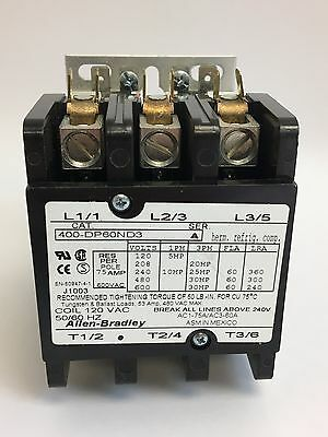 Allen-Bradley Bulletin 400 Definite Purpose Contactor