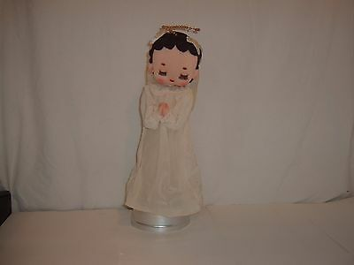 Musical Angel Doll(Made in Japan,girl,collectible,revolves,white dress,praying