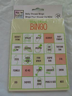 ON SALE!! $4.00  - Baby Shower Bingo Game -- for 24 players - was $6.95