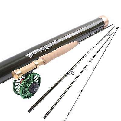Maxcatch 3WT 7'6'' 4-Section Fly Rod Medium Fast Fly Fishing Rod&Fly Reel