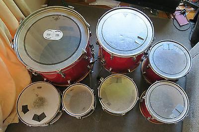 PEARL EXPORT DRUM KIT with 2 additional TAMA TOMS only