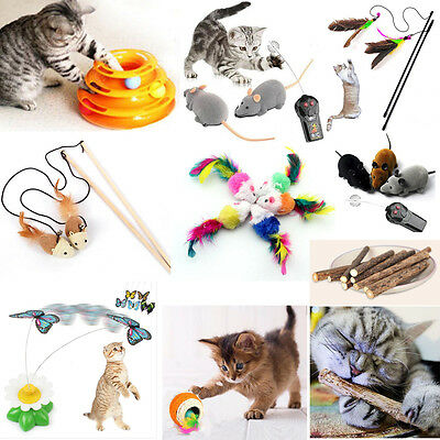 Kitten Toy Three Levels Tower Disc Cat Pet Toy Feather Bell Training Play Toy