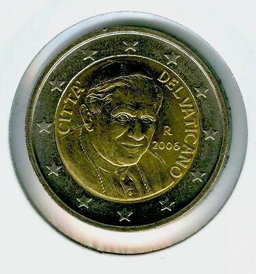 Vatican 2 Euro Coin 2006 BUNC new From Original Folder New Pope Benedictus XVI