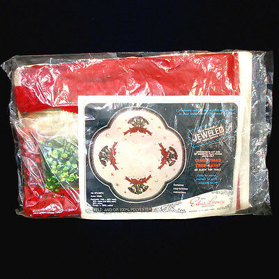 Edna Looney Jeweled Bells Christmas Tree Skirt Partial Kit