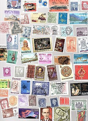 ALL WORLD 1000 stamps all different and off paper