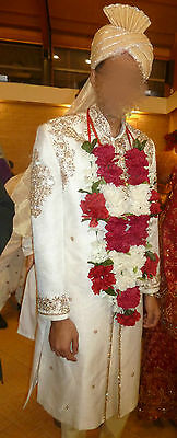 Mens White Sherwani - Asian Jacket