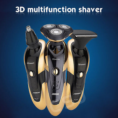 New 3D Rotary Rechargeable Washable Men's Cordless Electric Shaver Razor TRIMMER