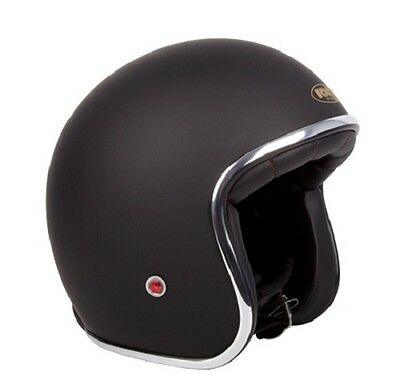 M Matt Black Challenger 'CLASSIC' Open Face  Helmet AS1698 Standards Approved