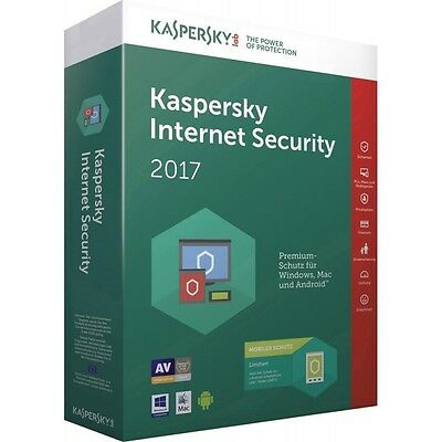 Kaspersky Internet Security 2017 Multi-Device 3 Device 1 Anno licenza ESD