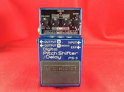 Good BOSS PS-3 Digital Pitch Shifter/Delay Rare Effect Pedal w/Tracking Number