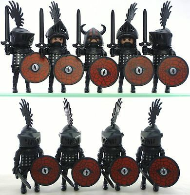 Playmobil Black Knights Figures Axes Castle Lot New Rare Accessories lot Leader