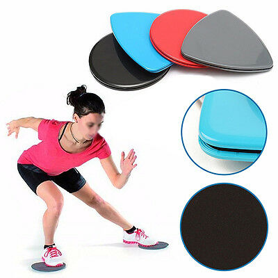 2 pcs Fitness Gliders Slide Discs Core Sliders Ab Workout Gym Exercise Training