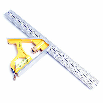Stanley 46-143 Measuring Combination Square Angle Ruler Straight Ruler 300mm