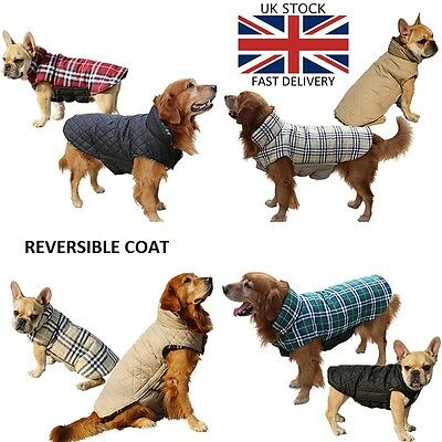 Quality Cute Puppy/dog Warm Reversible  Winter Snow/rain Jacket,coat-Dog Clothes