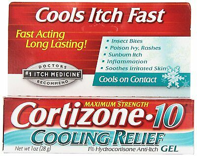 Cortizone-10 Instant Cooling Relief Anti-Itch Gel Maximum Strength 1oz USA STOCK