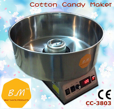 B.M CC-3803 Electric Commercial Cotton Candy Floss Maker Machine Party Coffee