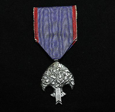 Manchukuo Emperor's Commemorative Silver Medal WW2 Japanese Army #987
