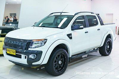 2013 Ford Ranger PX Wildtrak 3.2 (4x4) White Automatic 6sp A Utility