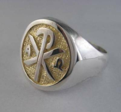 Solid silver ring for Bishop and Priest - 24212