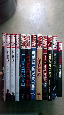 Lot 11 Marvel Comics Oversized Hardcovers + 1 Marvel TBP Daredevil, X Men...