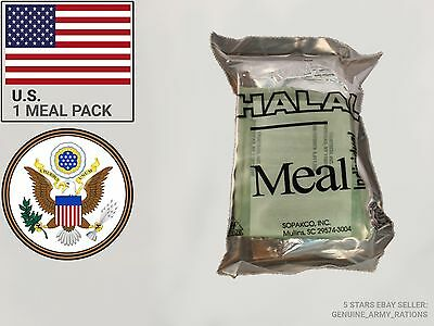 US Army HALAL Ration Pack. Military meals ready to eat (MRE)
