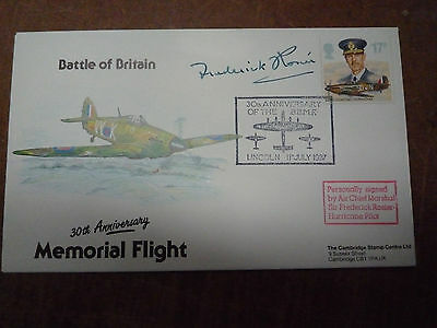 First Day Cover signed by Sir Frederick Rosier Battle of Britain Hurricane pilot