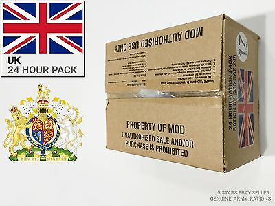 UNITED KIGNDOM Army Ration Pack. Military meals ready to eat (MRE) 24 HOURS