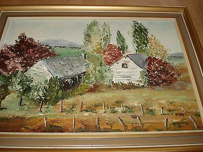 1983 ORIGINAL LANDSCAPE OIL PAINTING - SIGNED & FRAMED - Very Attractive Piece