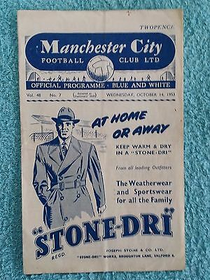 1953 - MANCHESTER CITY v HEARTS PROGRAMME - FRIENDLY