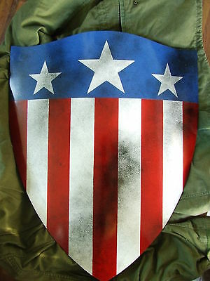 captain america WW2 full size acurate prop fiberglass repro shield