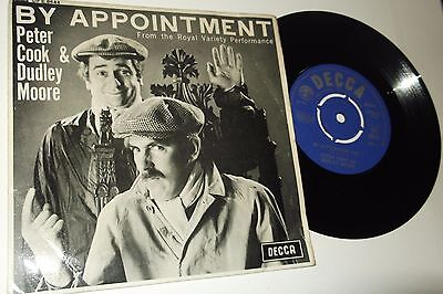 """Peter Cook & Dudley Moore by Appointment 7"""" Ep 1965 DECCA RECORDS MONO DFE 8644"""