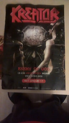 """Kreator """"Enemy Of God"""" Promo póster Perfecto Mint"""
