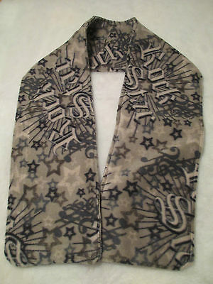 Youth Boys Rock Star Print Fleece Scarf  -  Free Shipping