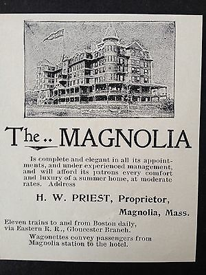 Antique Original 1896 Print Ad (B18)~Magnolia,ma. The Magnolia Hotel