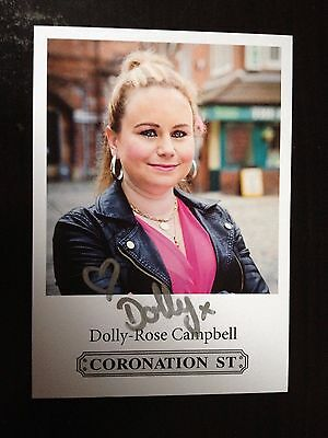 Dolly Rose Campbell - Coronation St Actress  - Signed Colour Photograph