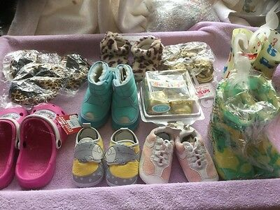 Bundle Children's Foot Wear , Slippers , Boots , Shoes All New 12 Pairs .