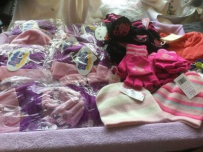 Job lot childrens hats. , gloves , scarfs all new 27 Items