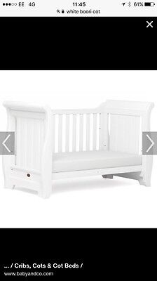BOORI Country Collection Sleigh Cot / CotBed / Sofa In White. Includes Mattress.