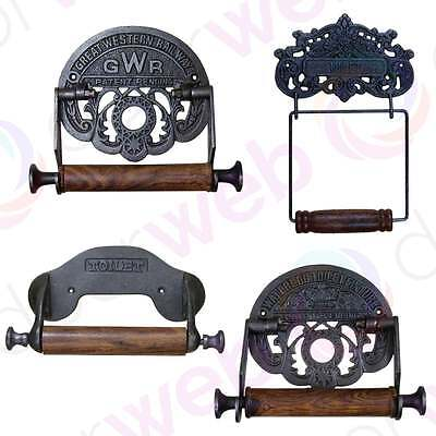 Vintage Cast Iron GWR WATERLOO ORNATE TOILET Roll Holder Antique Rustic Retro