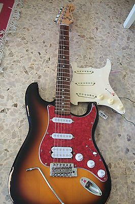 Fender stratocaster   ex squire  upgraded