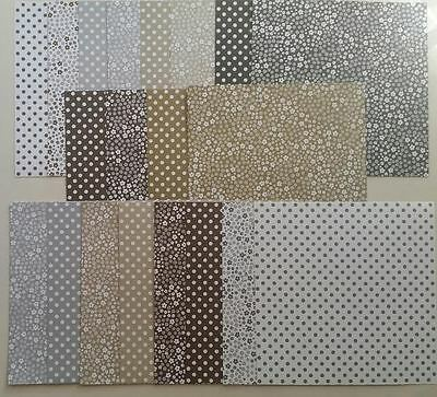 """Stampin up 20 sheets 6x6"""" New Neutrals Paper Pack"""