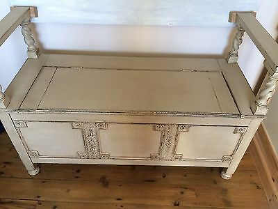 Antique Stripped Pine Monks Bench