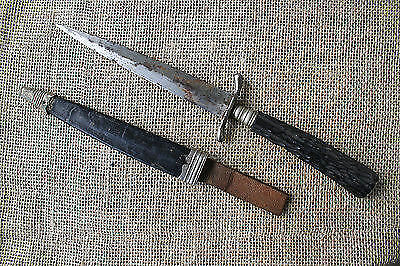 German WWI period trench or fighting knife. Grabendolch.