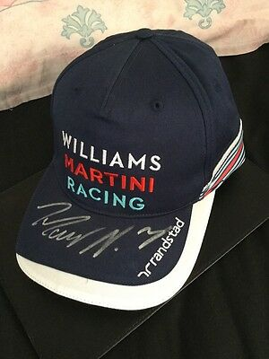 F1 williams 2016 driver issue cap hand signed By Massa And Bottas