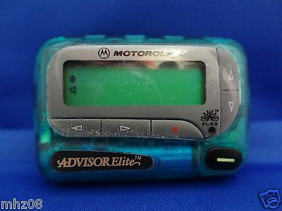 "NEW Vhf Flex ""RARE""GREEN Motorola Advisor Elite Pager  . Alphanumeric Pager VHF"