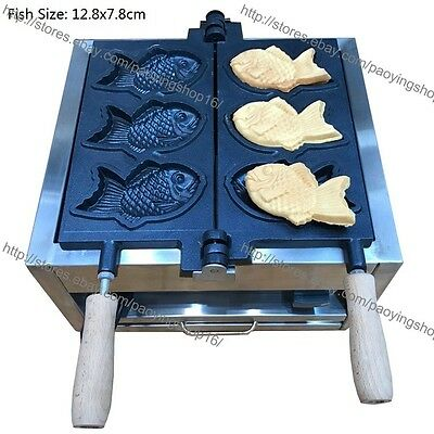 Commercial Nonstick Electric Japanese Fish Waffle Taiyaki Maker Machine Baker