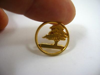 Vintage Collectible Pin: Beautiful Tree Open Body Design Gold Tone