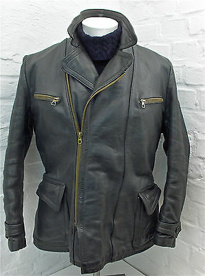Leder Jacke vintage 50er 60er leather jacket size M motorcycle german RIES RUHR