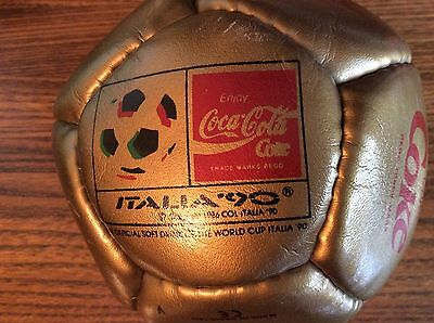 RARE GOLD Italia '90 Coca-Cola Advertising Mini Football LTD Edition