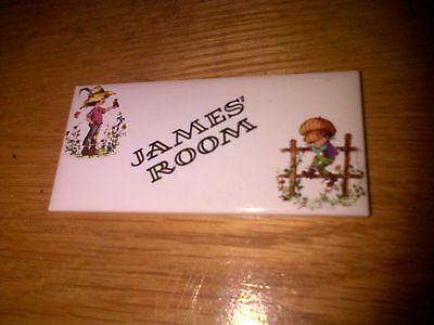 Vintage JAMES' ROOM Wall Tile by H & R JOHNSON LTD MADE IN ENGLAND RARE Retro
